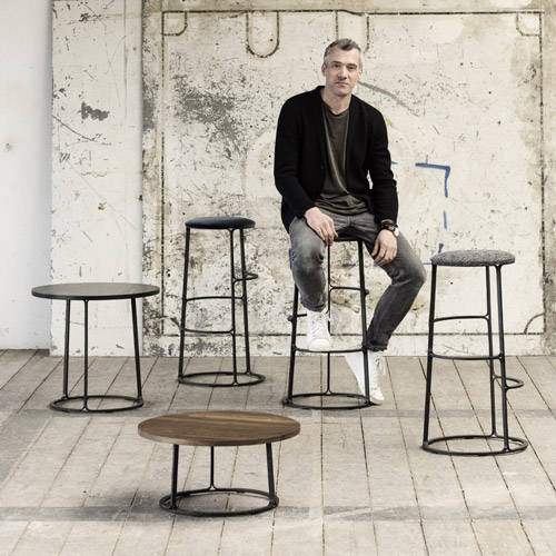 News: Barstool & side tables + Q&R with Aurélien Barbry